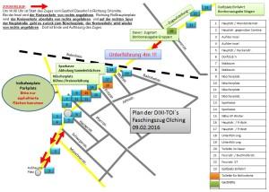 Faschingszug Olching 2016 Plan