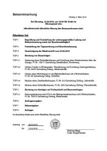 Bauausschuss 15032016