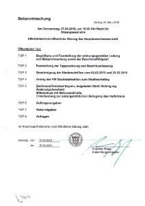 Hauptausschuss 07.04.2016