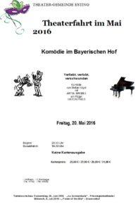 Theaterfahrt 20.05.2016