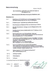 Stadtratssitzung 12.05.2016